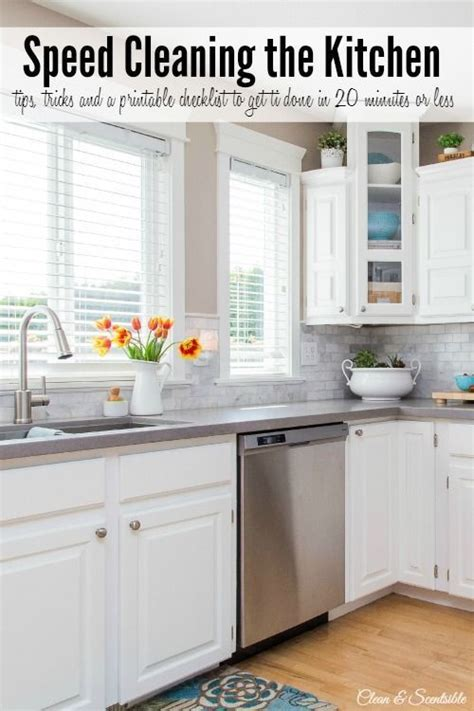 21 kitchen cleaning tips and tricks these will help me to keep things clean and organized how to speed clean the kitchen just love kitchen