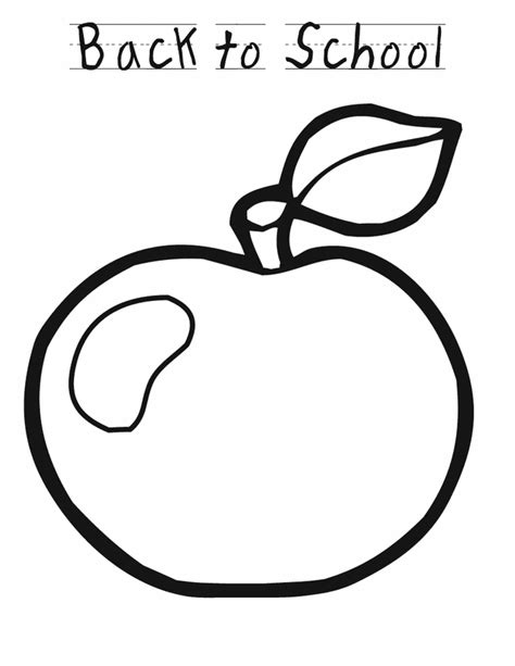 apple coloring pages kindergarten back to school apple free printable pages 9951