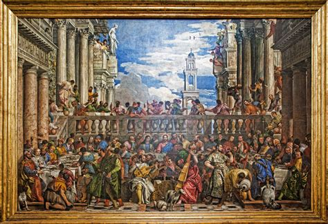Wedding At Cana Painting In The Louvre by The Marriage At Cana The Largest Painting In The Louvre