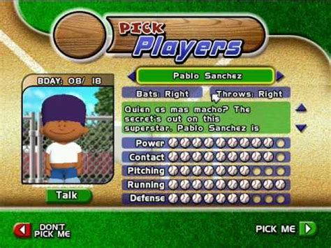 pablo sanchez backyard baseball backyard baseball 2005 pablo sanchez theme youtube