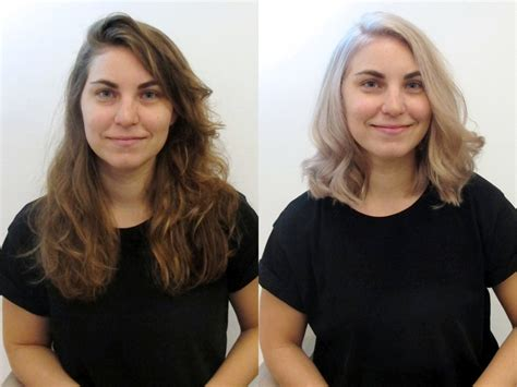 major haircuts before and after see before after hairstyles from the lounge soho