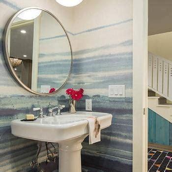 blue ombre bathroom walls design ideas