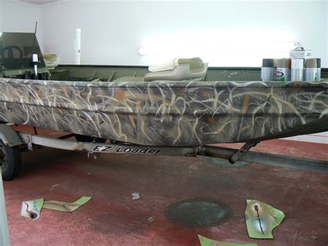 spray paint duck boat camo aluminum boat camo paint jobs google search row boats