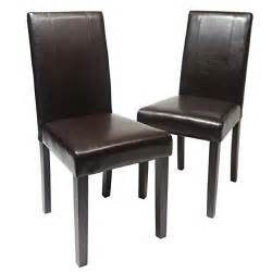 Wood And Leather Dining Chairs Leather Chairs Solid Wood Leatherette Padded Dinning Chair Brown Dining Set Of 2 Ebay