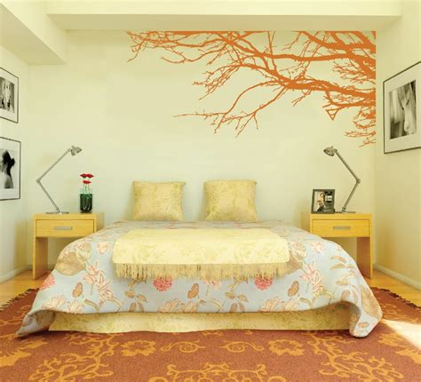 bedroom wall painting large wall tree nursery decal oak branches 1130