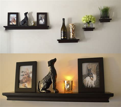 floating shelf ideas beauteous black wooden floating shelves idea with classy