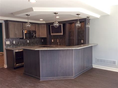 northville michigan basement remodel traditional