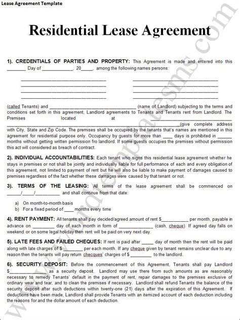 printable lease purchase agreement printable sle rental lease agreement templates free