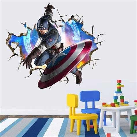 superheroes wall stickers wall stickers for rooms decals home decor personalized nursery 3d