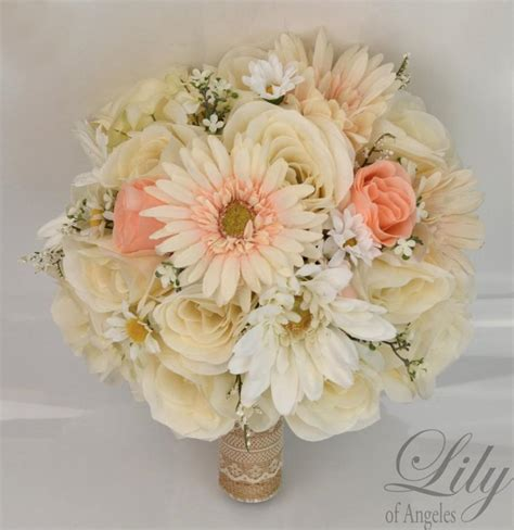 Silk Flower Wedding Bouquets by 17 Package Silk Flowers Wedding Bouquet Artificial