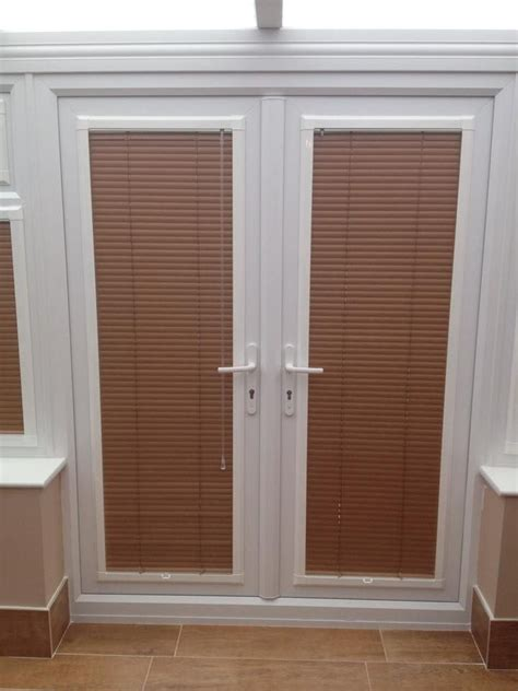 A Set Of Perfectfit Venetian Blinds In French Doors By Blind For Patio Doors
