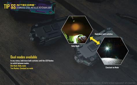 Nitecore Tip Ss Senter Led Mini Usb Rechargeable Cree Xp G2 S3 360 L nitecore tip ss usb rechargeable stainless steel key light cree xp g2 s3 led 360 lumens
