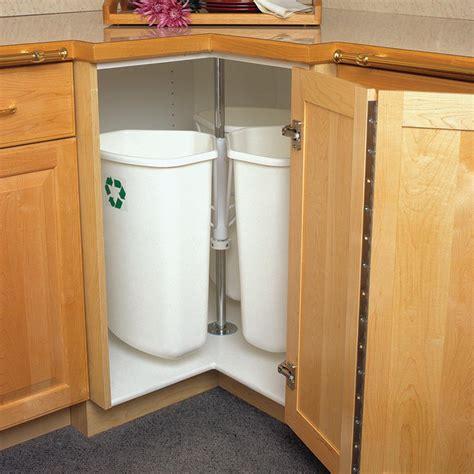 corner cabinet trash can knape vogt 28 5 in x 27 625 in x 27 625 in in cabinet