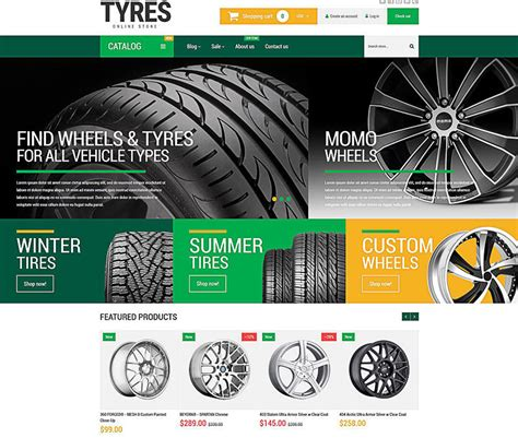 15 Best Ecommerce Templates For Wheels And Tires Websites Ecommerce Design Free Tire Shop Website Template