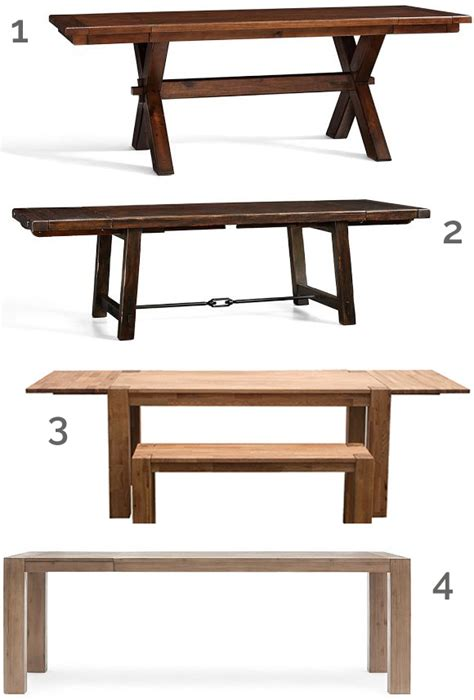 round up high and low extending dining tables at home
