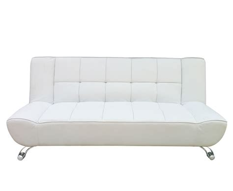 Clic Clac Sofa Bed Uk by Vogue 110cm White Faux Leather Clic Clac Sofa Bed