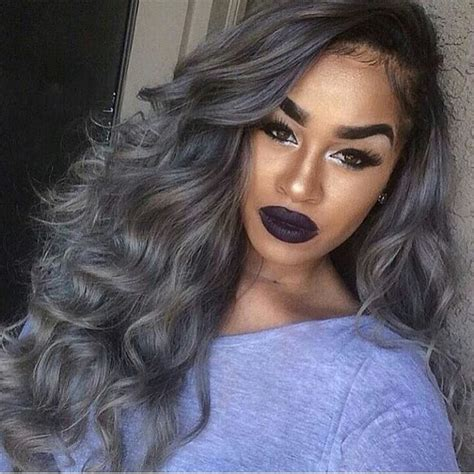hairstyles and color for gray hair 25 new grey hair color combinations for black women the