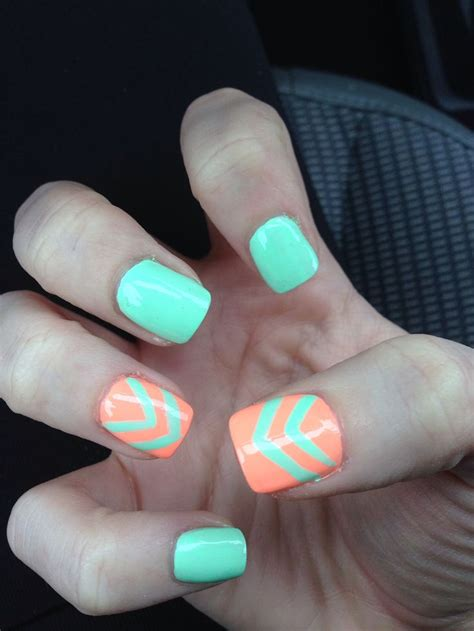 cute pattern nails this is a super cute nail design with a turquoise