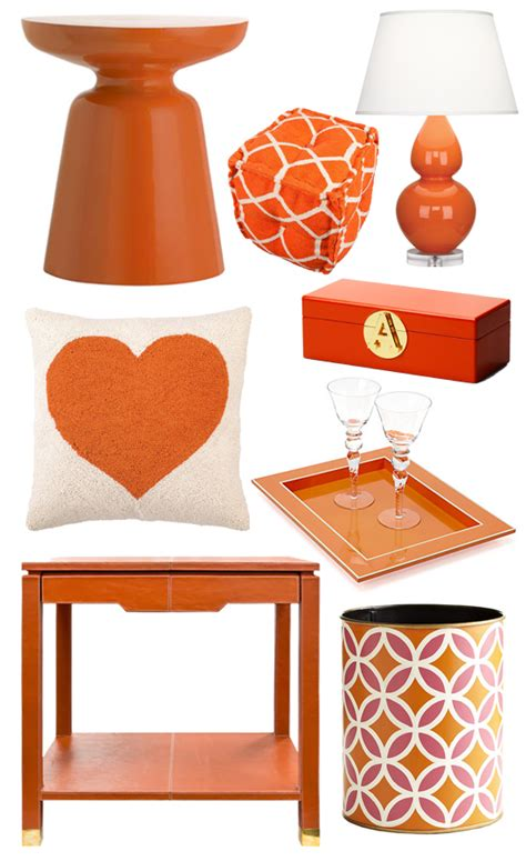 orange home decor popsugar home