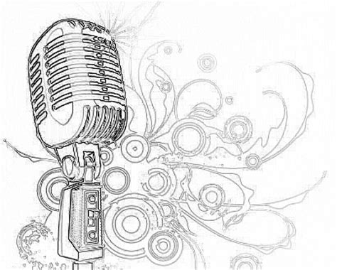 microphone tattoo outline music mic drawing