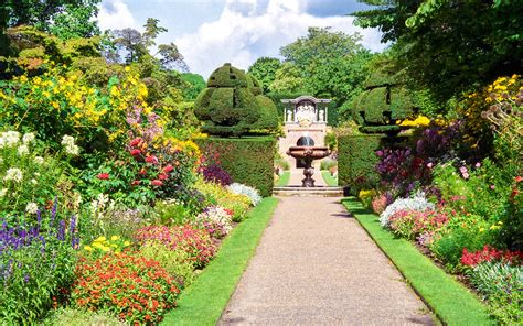 english herbaceous borders nymans garden west sussex