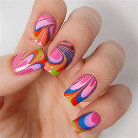 water pattern nails 20 marble nail art ideas with step by step tutorials