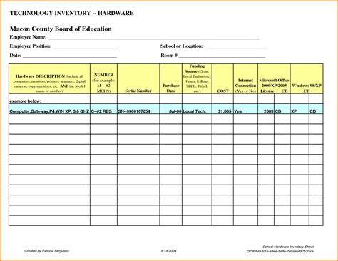 inventory list template excel computer inventory list excel spreadsheet buff