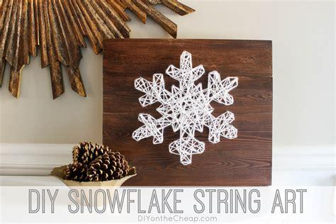 Painting Handmade - diy snowflake string 18 easy to build