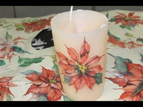 come decorare candele come decorare candele col decoupage fai da te mania