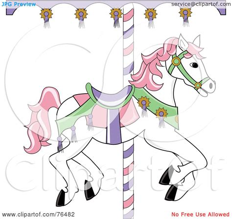 royalty free rf clipart illustration of a white carousel