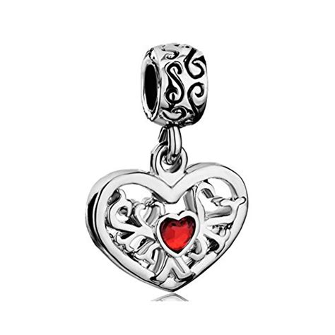 cheap 5 piece set red lovers tree loving landscape canvas heart love tree of life red birthstone crystal charm sale