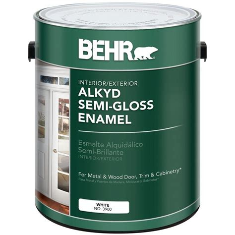 home depot pro x paint behr 1 gal white alkyd semi gloss enamel interior