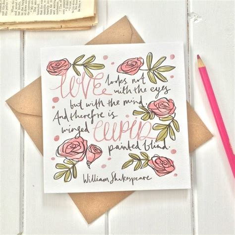 shakespeare valentines shakespeare valentines day card by literary emporium