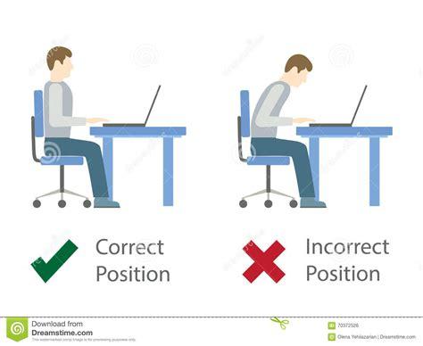 postura seduta corretta posizione di seduta corretta e sbagliata al computer