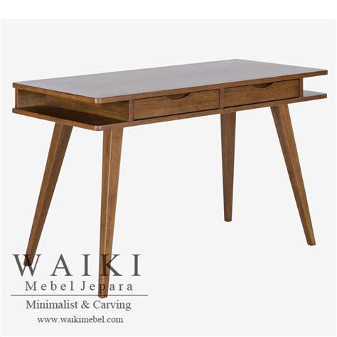 desain meja kerja kayu bulungan desk meja kerja desain scandinavian modern