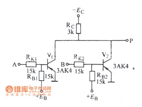 transistor nor gate circuit two input transistor nor gate circuit diagram basic circuit circuit diagram seekic
