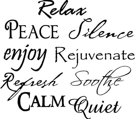 friday bathroom quote relax peace silence enjoy rejuvenate refresh soothe calm