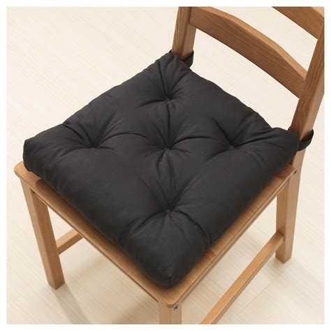 ikea black chair cushion malinda chair cushion black 40 35x38x7 cm ikea