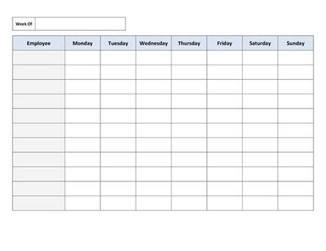free employee schedule template 25 best ideas about schedule templates on