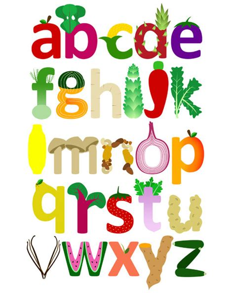 fruit 7 letters vegetable fruit alphabet print children s by