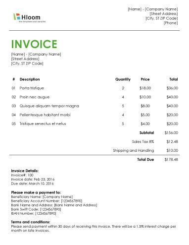 Invoice Letter Template Word invoice template in word recommendation letter template