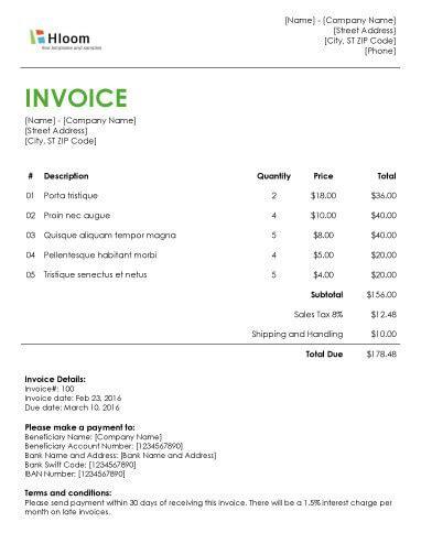 19 Blank Invoice Templates Microsoft Word Design Invoice Template Word