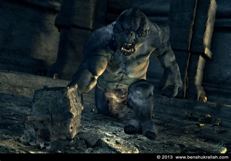 3d Troll cave troll 3d model lord of the rings ben shukrallah
