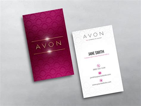 avon templates business cards avery avon business cards images card design and card