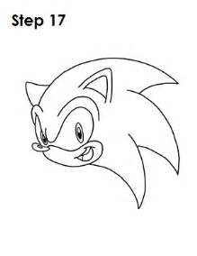 how to draw sonic the hedgehogs head drawable