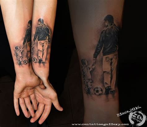 father and son tattoos and by blaze www