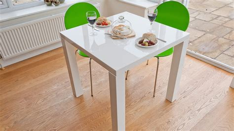 small white kitchen table modern square white high gloss table 4 seater uk