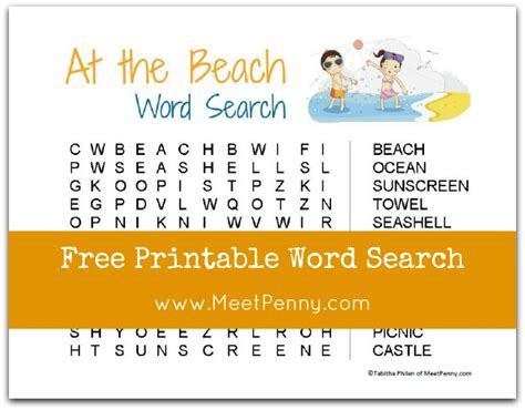 printable word search beach beach word search printable printable paper