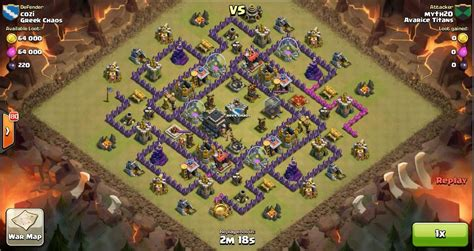 clash of clans th9 vs th9 golem wizard witch gowiwi clan war clash of clans th9 vs th9 golem wizard witch pekka