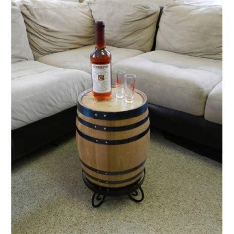 Oak Barrel End Table